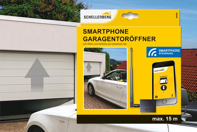 der neue smartphone garagentor ffner von schellenberg und das handy wird zur fernbedienung. Black Bedroom Furniture Sets. Home Design Ideas